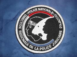 Ecusson Patch Tissu Clémenceau Police Judiciaire DRPJ D'Ajaccio - Ecussons Tissu