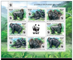 WWF W.W.F. Central Africa Gorrilas MNH Sheetlet 2015 - Unused Stamps