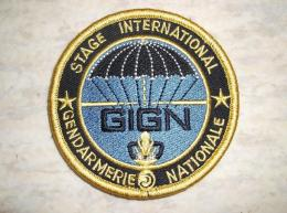 Ecusson Patch Gendarmerie GIGN Stage International - Ecussons Tissu