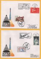 Raumfahrt / Französisch Guyana / Frankreich - Kourou - Rakete Ariane - Stempel Aus Den Jahren 1993 + 1995 - Zuid-Amerika