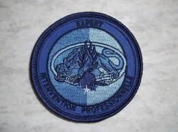 Ecusson Patch Gendarmerie Expert Intervention Professionnelle BV Bleu - Ecussons Tissu