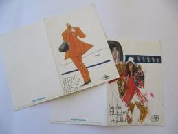 AIR FRANCE - 2 Menus , Paris Dakar, 1972 - Florent Margaritis - Menus