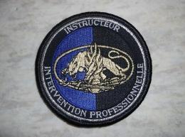 Ecusson Patch Gendarmerie Instructeur Intervention Professionnelle GD - Ecussons Tissu