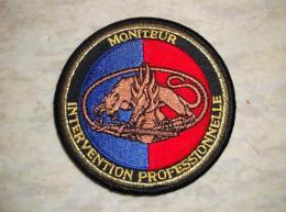 Ecusson Patch Gendarmerie Moniteur Intervention Professionnelle GM - Ecussons Tissu