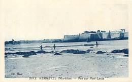 - Morbihan -C569-  Kernevel - Vue Sur Port Louis -  Carte Bon Etat - - Other Municipalities