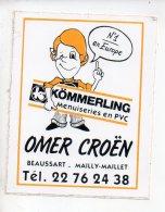 REF 6  : Autocollant Publicitaire Sticker Omer Croen Beaussart Mailly Maillet - Adesivi