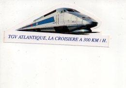 REF 6  : Autocollant Publicitaire Sticker TGV Atlantique 300 Km / H SNCF - Autocollants