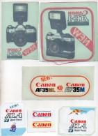 REF 6  : Autocollant Publicitaire Sticker Lot De 8 Photographie CANON AE-1 AL-1 AF35 M - Autocollants
