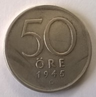 50 Ore 1945 - Suède - - Suède