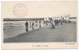 CALAIS  - BF  - La  Plage - Cabines De Bain - Cachet BF - Calais
