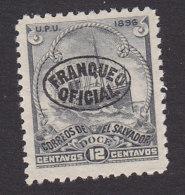 El Salvador, Scott #O30, Mint No Gum, Ocean Steamship Overprinted, Issued 1896 - El Salvador