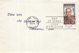 Canada - FDC 23-06-1969 - 50. Todestag Von Sir William Osler - Professor Der Physiologie Und Pathologie  - M 437 - 1961-1970