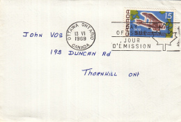 Canada - FDC 13-06-1969 - 50. Jahrestag Des Ersten Atlantikfluges - Vickers Vimy - Karte Des Nordatlantik - M 436 - 1961-1970