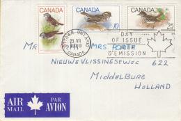 Canada - FDC 23-07-1969 - Vögel/vogels/birds - Sparrow/spreeuw - M 438-440 - 1961-1970