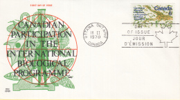 Canada - FDC 18-02-1970 - Internationales Biologisches Programm - M 450 - 1961-1970