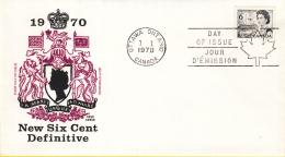 Canada - FDC 07-01-1970 - Freimarke - Jahrhundertfeier - Centennial-Serie - M 447 - 1961-1970