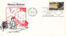 Canada - FDC 15-04-1970 - 300. Geburtstag Von Henry Kelsey - M 455 - 1961-1970