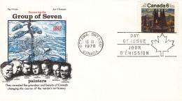 """Canada - FDC 18-09-1970 - 50. Jahrestag Der Gründung Der Künstlervereinigung """"Group Of Seven""""- M 461 - 1961-1970"""