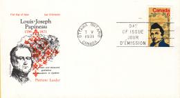 Canada - FDC 07-05-1971 - 100. Todestag Von Louis Joseph Papineau - M 479 - Omslagen Van De Eerste Dagen (FDC)