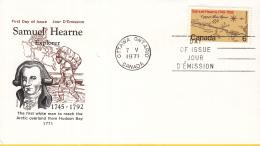 Canada - FDC 07-05-1971 - 200. Jahrestag Der Expedition Von Samuel Hearne Zum Copper Mine River - M 480 - Omslagen Van De Eerste Dagen (FDC)