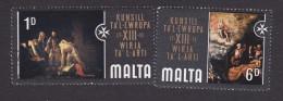 Malta, Scott #409, 412, Used/Mint Never Hinged, 13th Council Of Europe Art Honoring Order Of St John, Issued 1970 - Malta