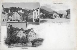GRUSS AUS SARNEN → Mehrbildkarte, Bahnhofquartier, Dorfplatz Und Landenberg - OW Obwald