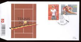 2003  FDC 1453  OCB 3225/26  COTE 7,50 - TENNIS  HENIN   CLIJSTERS - 2001-10