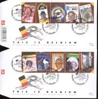 2004  2 FDC'S 1456 + 1457  OCB 3235/44  COTE 14,00 -  THIS IS BELGIUM - 2001-10