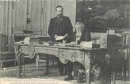 FALLIERES PRESIDENT DE LA REPUBLQUE  ELU EN 1906 A L´ELYSEE AVEC SON SECRETAIRE JEAN LANES - Personnages