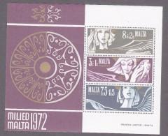 Malta, Scott #B12a, Mint Never Hinged, Angels, Issued 1972 - Malta