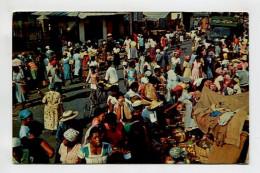 Market Street Scene.  Jamaica - Postcards