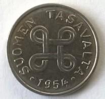 Monnaie - Finlande - 1 Markka 1954 - - Finland