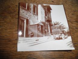 Photographie Ancienne De Cannes Daté 1907, Voiture De Dion Bouton De 1903 Stationnant Devant Un Chalet - Automobili