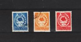 1947 - 1 Congres De L Union Syndicale Mi No 1037/1039 Et Yv No 975A/975C - Usado