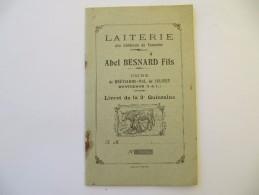 Laiterie Abel Besnard, Montrésor, Touraine - Livret De Quinzaine Vierge - Agriculture