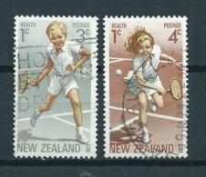 1972 New Zealand Complete Set Health,sport,tennis Used/gebruikt/oblitere - Nieuw-Zeeland