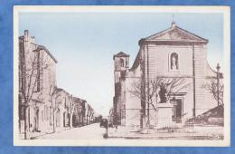 CPA - MOURIES - Eglise Et Monument Aux Morts - France