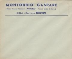 8056-PIRELLI-COPERTURE E TUBOLARI - DITTA MONTOBBIO GASPARE - VERCELLI-BUSTA - Publicités