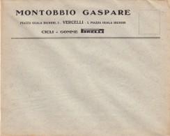 """8057-PIRELLI-PNEUMATICI E TUBOLARI """"VELO - DITTA MONTOBBIO GASPARE - VERCELLI-ILLUSTRATORE M. DUSE-BUSTA - Publicités"""