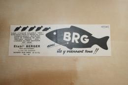 PUB 1953 BERGER Pêche SAVIGNY SUR ORGE Essonne (91) - Pubblicitari