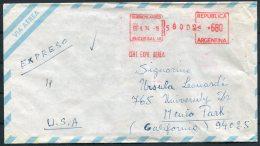 Argentina 1974 Franking Machine Airmail Cover - USA - Argentine