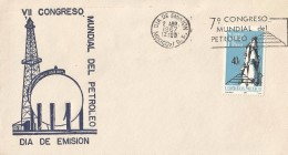 B)1967 MEXICO, OIL REFINERY, PETROL, TRANSPORT, MINERALS,  INDUSTRY, COMMERCE, 7TH WORLD PETROLEUM CONGRESS, UNUSED, FDC - Mexico