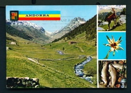 ANDORRA  -  Incles Valley  Multi View  Used Postcard As Scans - Andorra