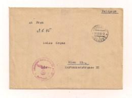 Feldpostbrief Samt Original-Inhalt 27.12.1944 Von Gen.Komp.Gren.Ers.Batl. 97 Josefstadt 11b Prot. - Mit Roten Stempel - - Deutschland