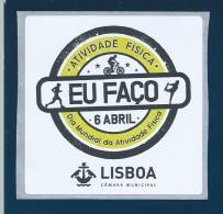 Sticker World Day Physical Activity. Lisbon.Aufkleber Welttag Körperliche Aktivität. Lissabon.Activité Physique Journée - Sports