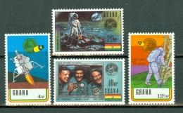 Ghana 1970 First Man On The Moon  Yv 374/377**, Mi 397/400**,  MNH - Ghana (1957-...)