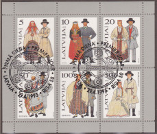 VE_ Lettland - Mi.Nr. Block 3 - Gestempelt Used - Lettonia