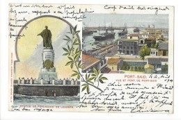 14581 - Port-Saïd Vue Et Port Envoyée En 1901 - Port-Saïd