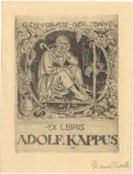 Ex-Libris. Adolf  Kappus /  Richard Throll. - Ex-libris