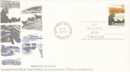 Canada - FDC 08-09-1972 - Freimarken -Landschafstbilder/Landschappen - M 506-510 - Omslagen Van De Eerste Dagen (FDC)